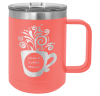 15 oz. Stainless Steel Polar Camel Mug - Coral 15 oz. Vacuum Insulated Mug with Slider Lid