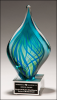 Blue and Green Art Glass Twist Artistic Glass Awards