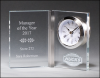 Clear Glass Book Clock Clocks