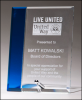Sapphire and Clear Glass Panel Cobalt Awards