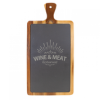 Acacia Wood/Slate Cutting Board with Handle  Cooking