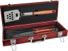 3-Piece Rosewood BBQ Set Cooking