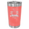 16 Oz Coral & Silver Coated Ringneck Pint Tumbler with Lid    Drinkware