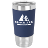 Navy Blue/White Polar Camel Tumbler with Silicone Grip and Clear Lid  Drinkware