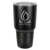 30 Oz Black Coated Ringneck Tumbler with Lid Drinkware