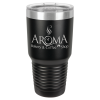30 Oz Black & Silver Coated Ringneck Tumbler with Lid Drinkware