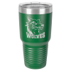 30 Oz Green Coated Ringneck Tumbler with Lid Drinkware