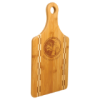 Bamboo Cutting Board with Butcher Block Inlay - Paddle Eco-Friendly Bamboo and Cork