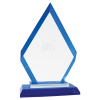 A New Item! Diamond Blue Regal Glass Award  Fire, Police and Safety