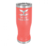 14 Oz Coral Coated Pilsner Tumbler      Fire, Police and Safety