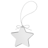 Star Clear Glass Ornament with Silver String Holidays
