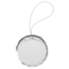 Round Clear Glass Ornament with Silver String Holidays