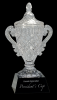 Crystal Vase on Black Crystal Base Loving Cup and Vase Awards