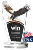 Landing Eagle Acrylic Award Patriotic and Military