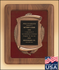 American Walnut Frame with Antique Bronze Casting Patriotic and Military