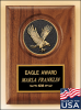 American Walnut Plaque with Eagle Casting Patriotic and Military