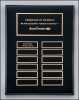 Black Piano Finish Perpetual Plaque Piano Finish Plaques - Black