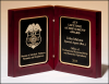 A New Item! Stained Book Awards Piano Finish Plaques - Rosewood