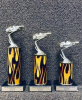 Set of 3 Economy Pinewood Derby Trophies Pinewood Derby and Scouts