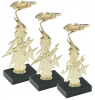 Set of 3 Economy Pinewood Derby Trophies with Marble Base Pinewood Derby and Scouts
