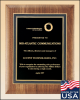 American Walnut Plaque with Black Textured Plate Plaques | Best Sellers