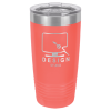 20 Oz Coral Coated Ringneck Tumbler with Lid   Promotional Items