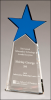 Blue Crystal Star on Clear Crystal Base   Red Optical Crystal Awards