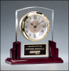 Glass and Rosewood Piano Finish Clock Rosewood Glass Awards