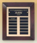 Cherry Finish Wood Frame Perpetual Plaque 12 Monthl Perpetual Plaques
