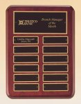 Rosewood Piano Finish Perpetual Plaque 12 Monthl Perpetual Plaques