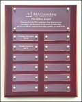 Rosewood Piano Finish and Acrylic Perpetual Plaque 12 Monthl Perpetual Plaques