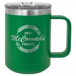 15 oz. Stainless Steel Polar Camel Mug - Green 15 oz. Vacuum Insulated Mug with Slider Lid