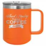 15 oz. Stainless Steel Polar Camel Mug - Orange 15 oz. Vacuum Insulated Mug with Slider Lid