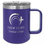 15 oz. Stainless Steel Polar Camel Mug - Purple  15 oz. Vacuum Insulated Mug with Slider Lid