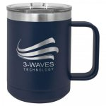 15 oz. Stainless Steel Polar Camel Mug - Navy 15 oz. Vacuum Insulated Mug with Slider Lid