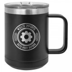15 oz. Stainless Steel Polar Camel Mug - Matte Black 15 oz. Vacuum Insulated Mug with Slider Lid