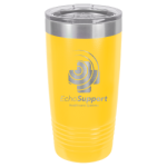 20 Oz Yellow Coated Ringneck Tumbler with Lid   20 oz. Polar Camel Tumblers