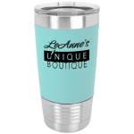 Teal/Black Polar Camel Tumbler with Silicone Grip and Clear Lid   20 oz. Polar Camel Tumblers