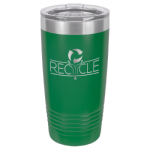 20 oz Green Coated Ringneck Tumbler with Lid    20 oz. Polar Camel Tumblers