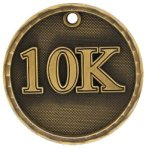 10K Race 3-D Medal 3-D Medallion