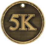 5K Race 3-D Medal 3-D Medallion