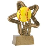 Softball - Stars and Stripes A Best Seller! Star Resin Award