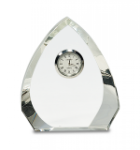 Clear Crystal Arch with Clock A Great Value - Crystal Awards under $50