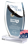Dare to Soar Eagle Acrylic Award Acrylic Awards Made in the USA