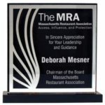 Mirror Deco Silhouette Series Acrylic Award - Silver Square Acrylic Awards Made in the USA