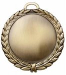 4 Laurel Wreath Medal - Blank with Custom Front Engraving  All Award Blank Medals with Mylars