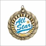 Scallop Insert Medal All Award Blank Medals with Mylars