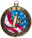 Laurel Medal - Antique Finish with Custom Disc - 2.75 All Award Medals