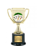 Victory Cup Insert Holder on Round Base All Award Mylar Holders