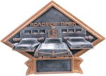 Car Show - 50's Theme Diamond Plate Resin Trophy All Award Trophies